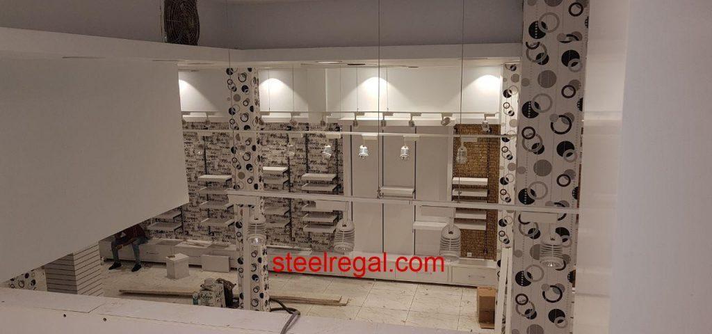 طراحی دکور فروشگاه لباس رگال رگال لباس رگال دیواری