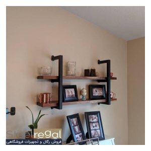 انواع قفسه فلزی دو طبقه استیل رگال