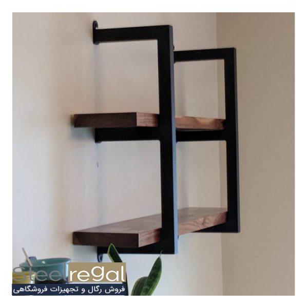 قفسه فلزی دو طبقه استیل رگال