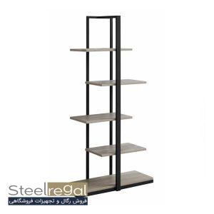 نمونه قفسه سه پایه استیل رگال