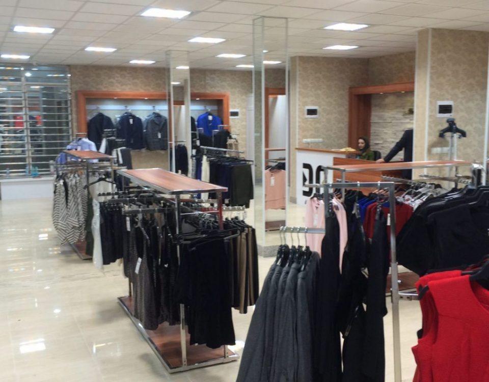 اهواز نصیرزاده ۲نمونه کار استیل رگال رگال دیواری استند فروشگاهی